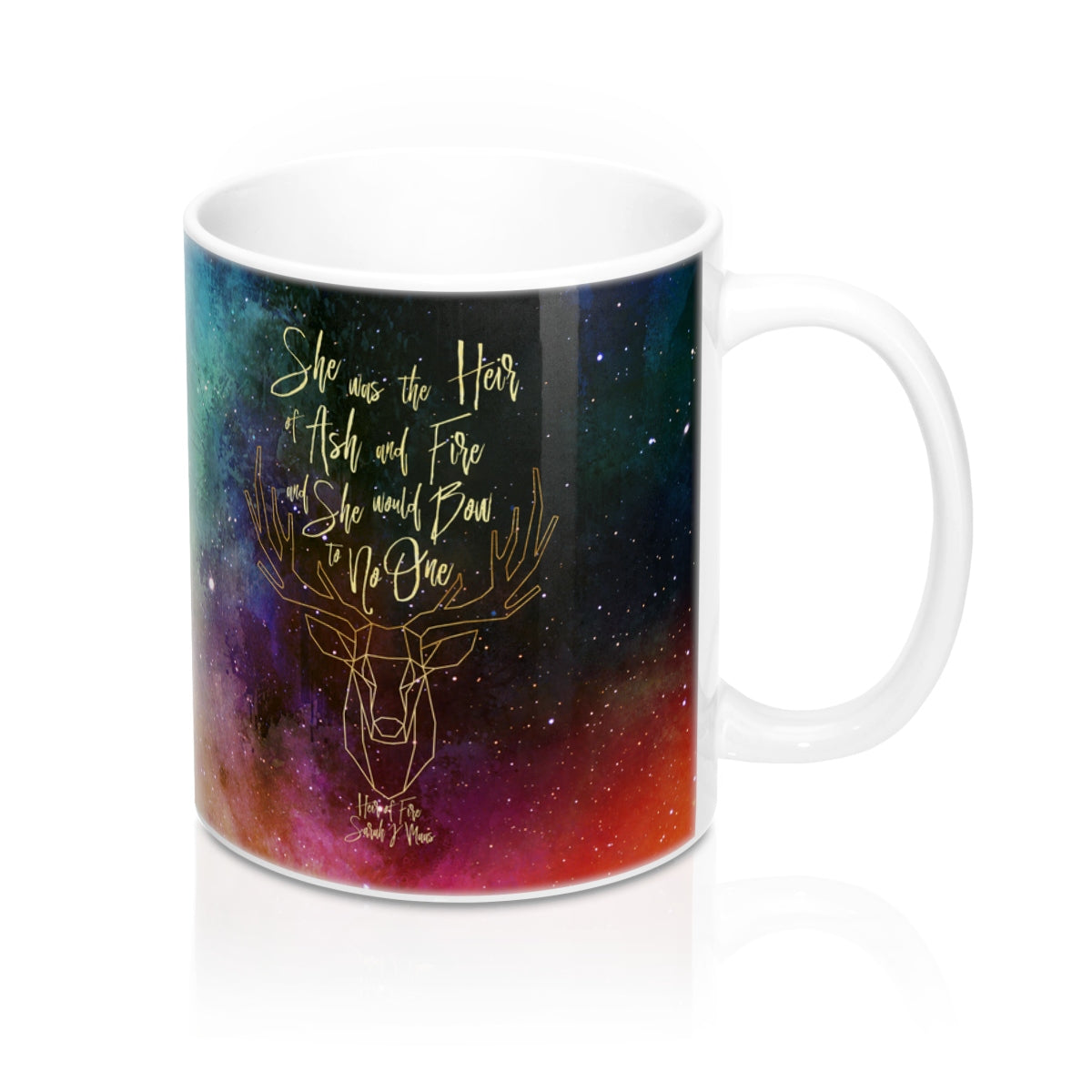She was the heir... Heir of Fire (Throne of Glass Series) Quote Mug - LitLifeCo.