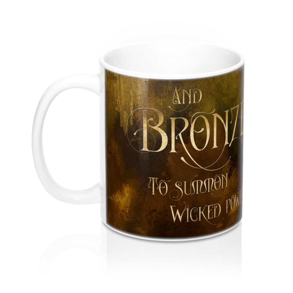 And BRONZE to summon wicked powers. Shadowhunter Children's Rhyme Mug - LitLifeCo.