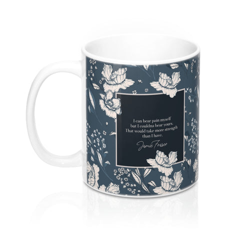 I can bear pain myself... Jamie Fraser Quote Mug - LitLifeCo.