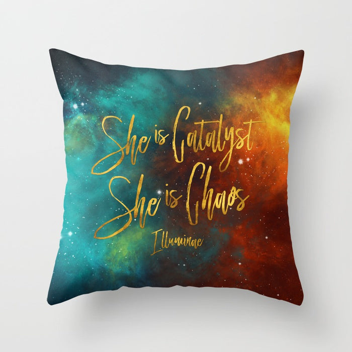 She is catalyst... Illuminae Quote Pillow - LitLifeCo.