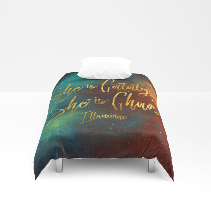 She is catalyst... Illuminae Quote Duvet Cover - LitLifeCo.