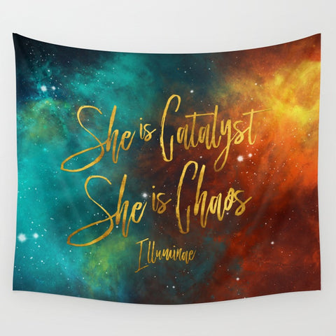 She is catalyst. She is chaos. Illuminae Quote Wall Tapestry