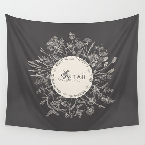 Dear Sassenach Wall Tapestry - LitLifeCo.