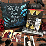 When you can't beat the odds, change the game. Six of Crows Quote Pillow - LitLifeCo.