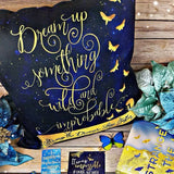 Dream up something wild and improbable. Strange the Dreamer Quote Pillow - LitLifeCo.