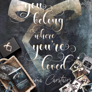 You belong... Emma Carstairs Quote Wall Tapestry - LitLifeCo.