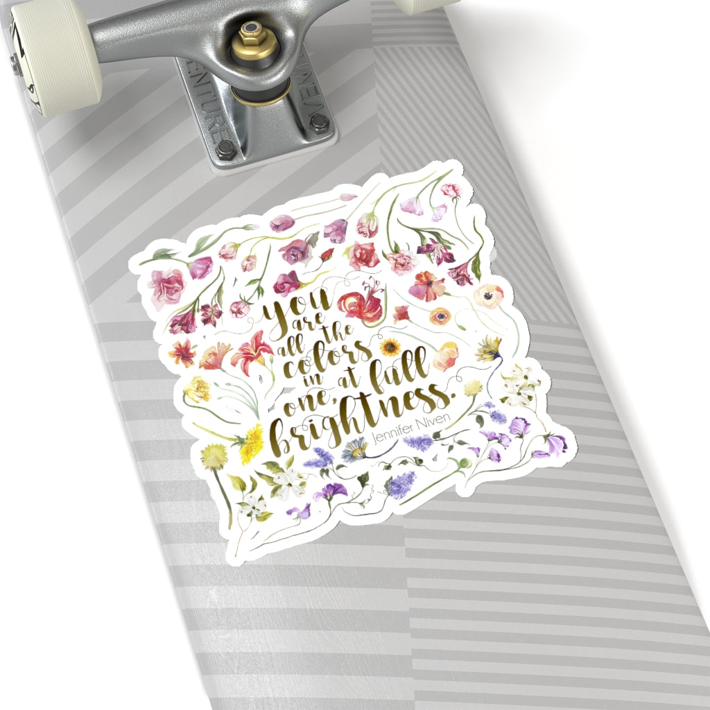 You are all the colors in one... Theodore Finch Quote Sticker - LitLifeCo.