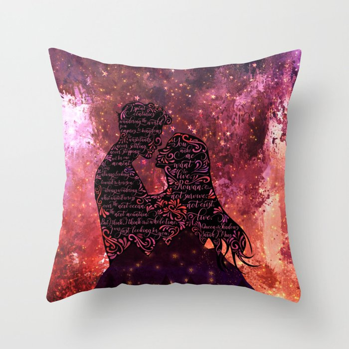 I spent centuries... Queen of Shadows (Throne of Glass Series) Quote Pillow - LitLifeCo.