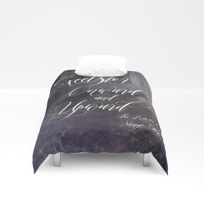Excelsior. The Raven Boys Quote Duvet Cover