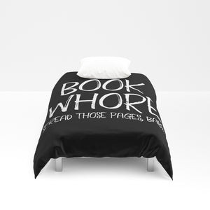 BOOK WHORE Duvet Cover - LitLifeCo.
