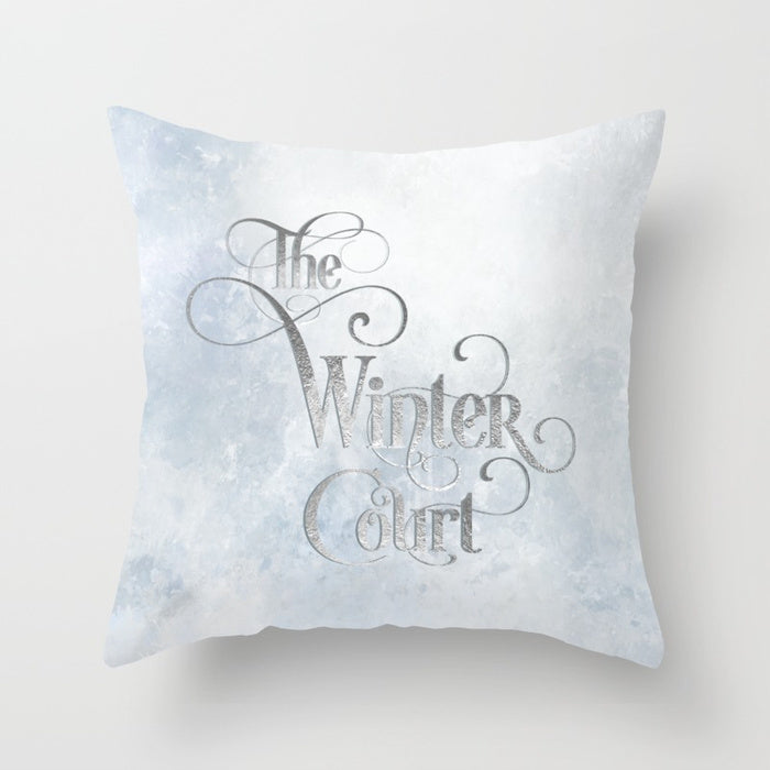 The Winter Court Pillow - LitLifeCo.