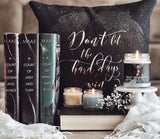 Don't let the hard days win. A Court of Mist and Fury (ACOMAF) Quote Pillow - LitLifeCo.