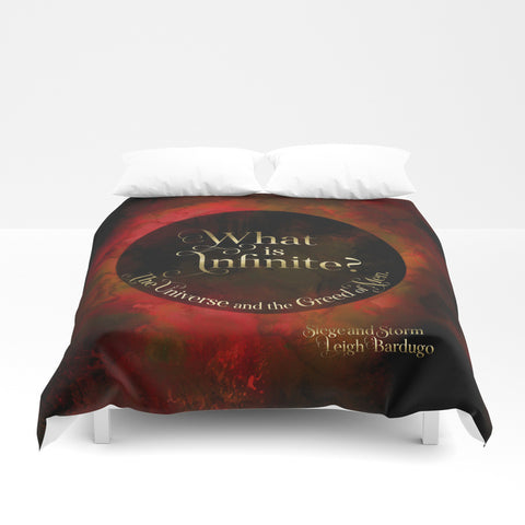 What is infinite... Siege and Storm Quote Duvet Cover - LitLifeCo.