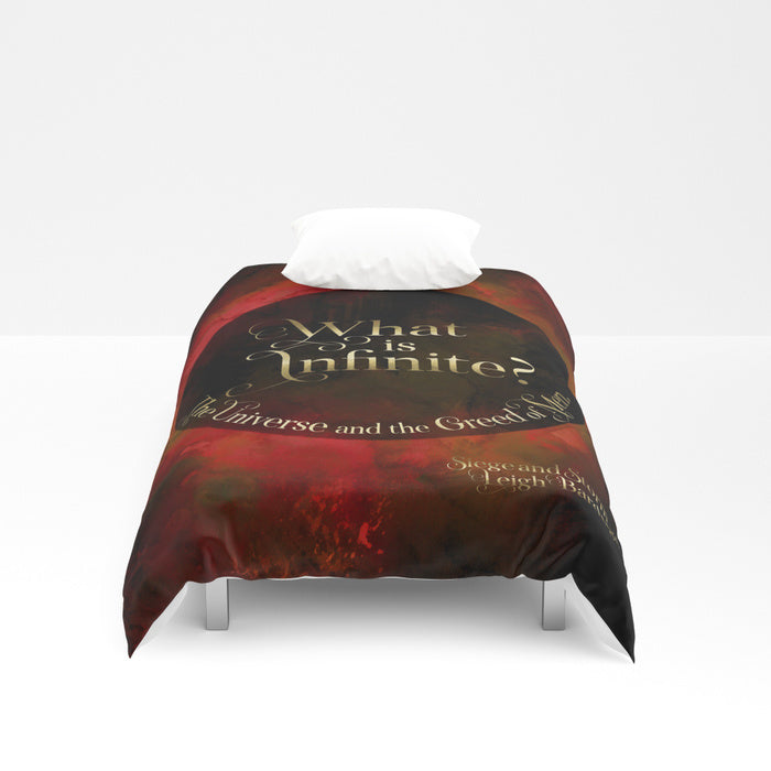 What is infinite... Siege and Storm Quote Duvet Cover