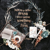 Instead of being afraid, I could become something to fear. The Cruel Prince Quote Throw Blanket