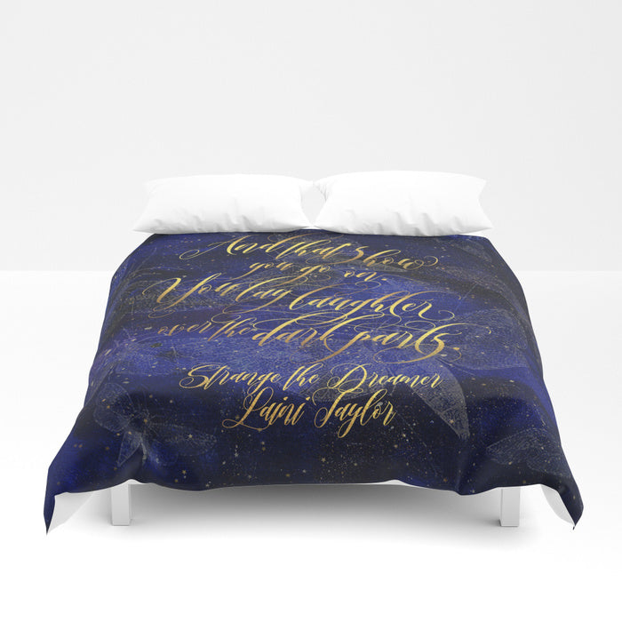 And that's how you go on... Strange the Dreamer Quote Duvet Cover - LitLifeCo.