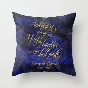 And that's how you go on... Strange the Dreamer Quote Pillow - LitLifeCo.