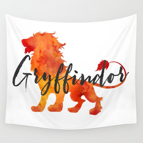 Gryffindor Hogwarts House Pride Wall Tapestry - LitLifeCo.