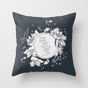 Ye werena the first lass I kissed.  But I swear you'll be the last. Jamie Fraser Quote Pillow - LitLifeCo.