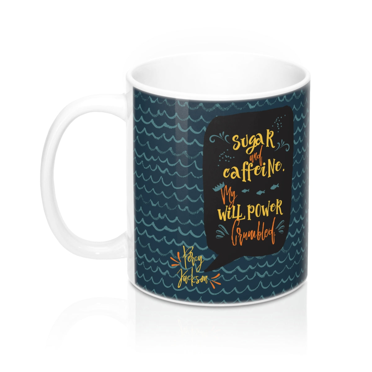 Sugar and caffeine... Percy Jackson Quote Mug - LitLifeCo.