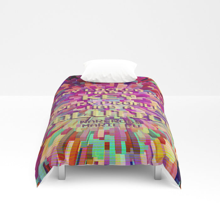 Every locked door... Warcross Quote Duvet Cover - LitLifeCo.