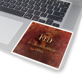 And RED to call enchantment down. Shadowhunter Children's Rhyme Sticker - LitLifeCo.