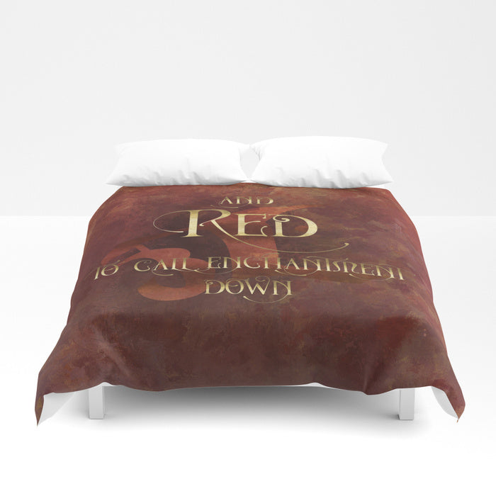 And RED to call enchantment down. Shadowhunter Children's Rhyme Quote Duvet Cover - LitLifeCo.