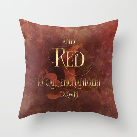 And RED to call enchantment down. Shadowhunter Children's Rhyme Quote Pillow - LitLifeCo.