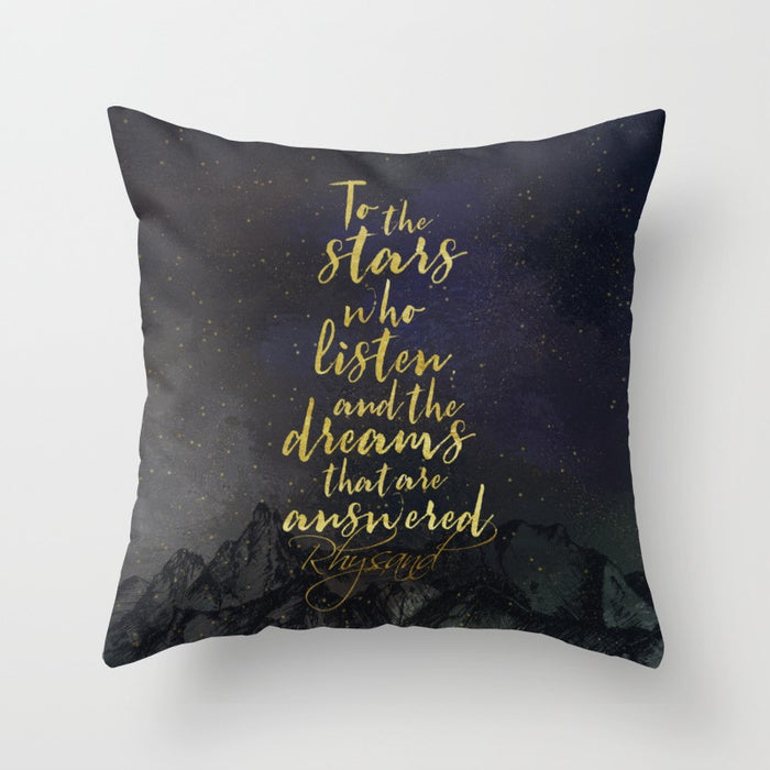 To the stars who listen... Rhysand Pillow - Literary Lifestyle Company