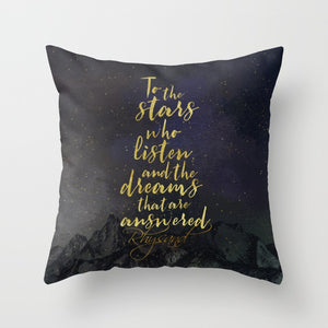 To the stars who listen... Rhysand Pillow - LitLifeCo.