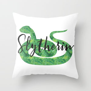 Slytherin Hogwarts House Pride Pillow - LitLifeCo.