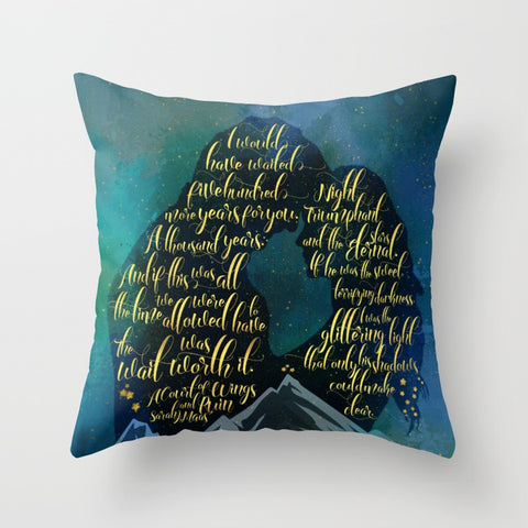 The wait was worth it. A Court of Wings and Ruin (ACOWAR) Quote Pillow