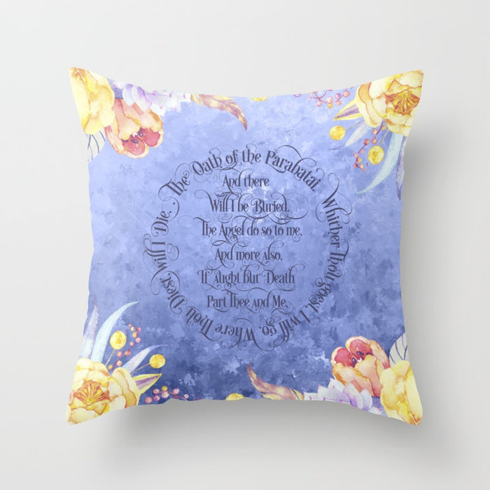 The Oath of the Parabatai Quote Pillow - LitLifeCo.