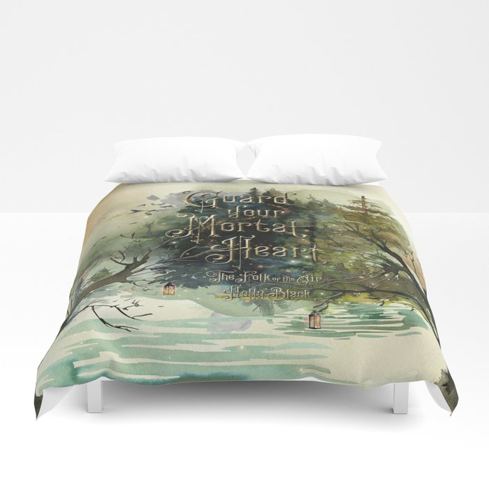 Guard your mortal heart. The Folk of the Air Duvet Cover - LitLifeCo.