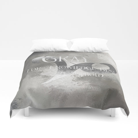 GRAY for knowledge best untold. Shadowhunter Children's Rhyme Quote Duvet Cover - LitLifeCo.