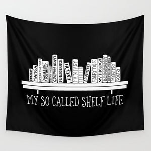 My So Called Shelf Life Wall Tapestry - LitLifeCo.