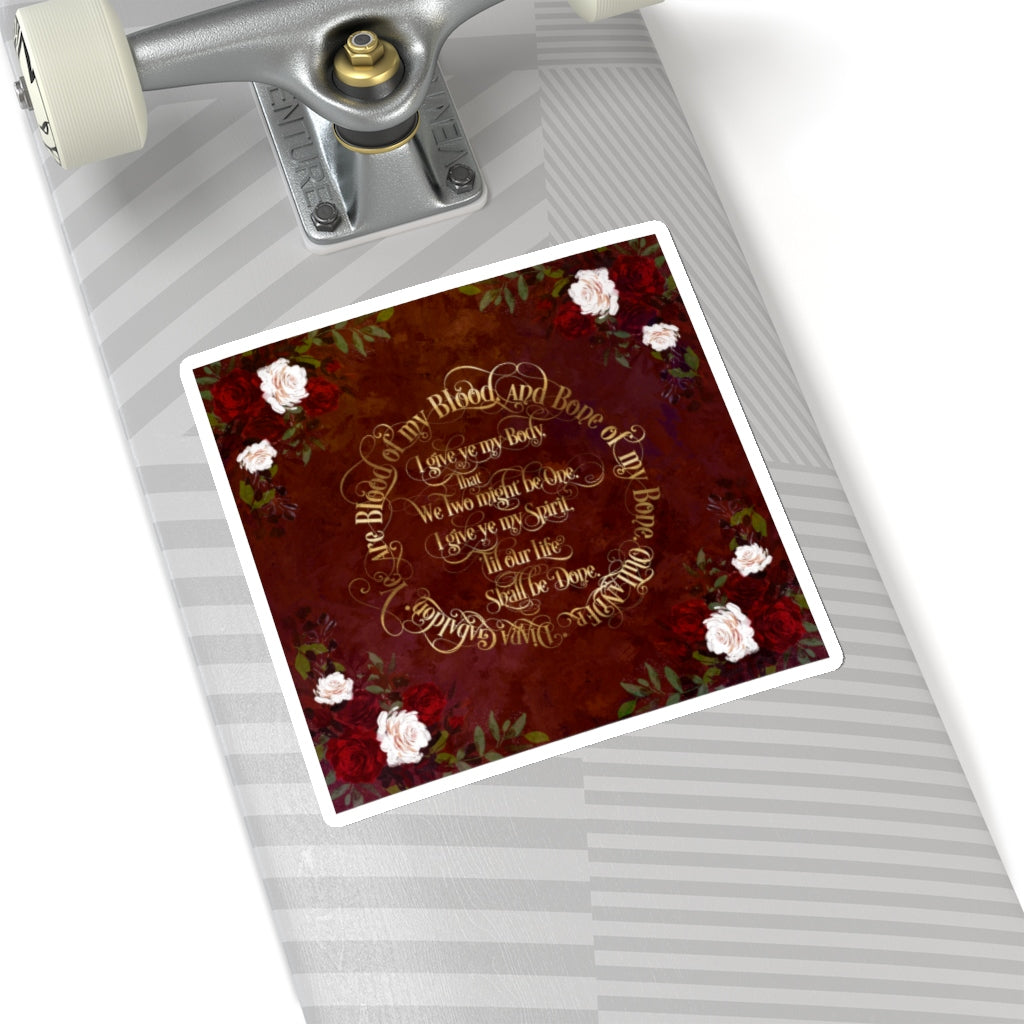 Outlander Wedding Vows Sticker - LitLifeCo.