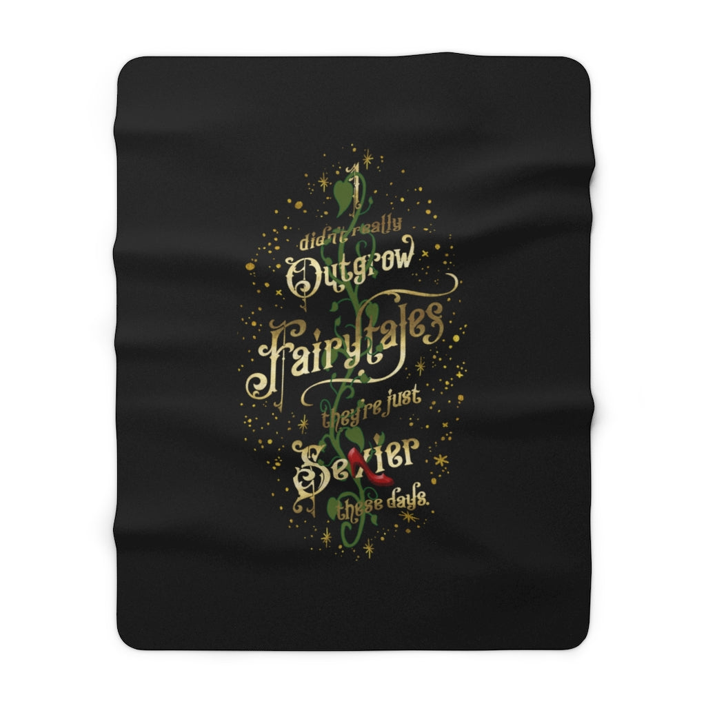 I didn't really outgrow fairytales... Throw Blanket