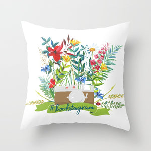 #bookstagram Floral Pillow - LitLifeCo.