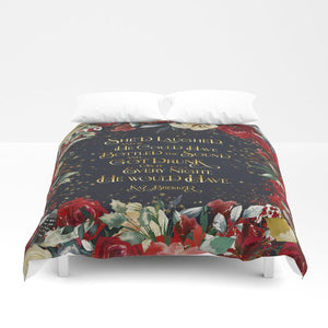 She'd laughed... Kaz Brekker Quote Duvet Cover - LitLifeCo.