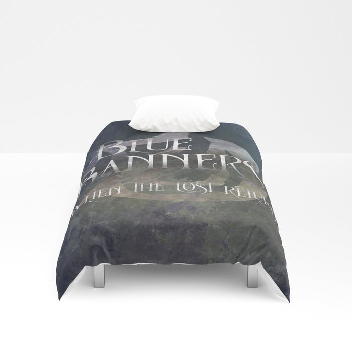 BLUE BANNERS when the lost return. Shadowhunter Children's Rhyme Quote Duvet Cover - LitLifeCo.