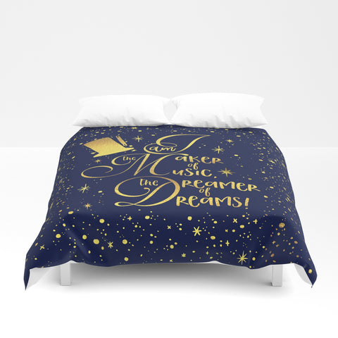 I am the maker of music... Charlie and the Chocolate Factory QuoteDuvet Cover