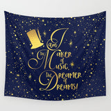 I am the maker of music... Charlie and the Chocolate Factory Quote Wall Tapestry