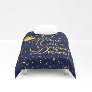 I am the maker of music... Charlie and the Chocolate Factory QuoteDuvet Cover - LitLifeCo.