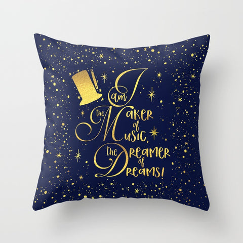 I am the maker of music... Charlie and the Chocolate Factory Quote Pillow
