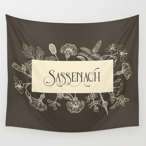 Sassenach in Sepia Wall Tapestry - LitLifeCo.