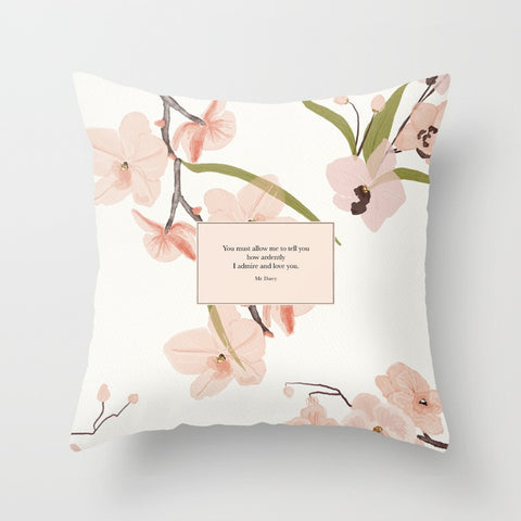 You must allow me... Mr. Darcy Quote Pillow - LitLifeCo.