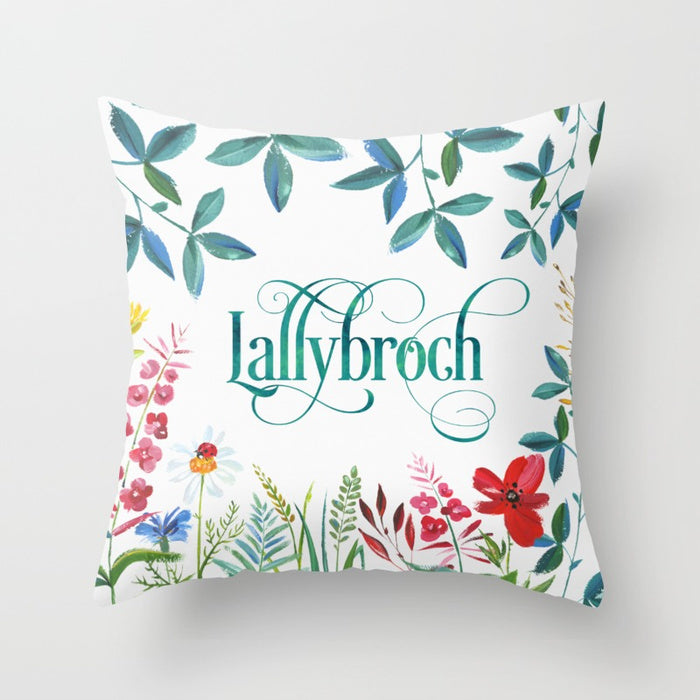 LALLYBROCH in Bloom Pillow - LitLifeCo.