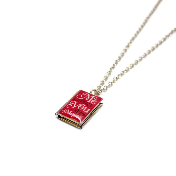 Me Before You Book Necklace - LitLifeCo.