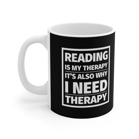 Reading is My Therapy Mug - LitLifeCo.